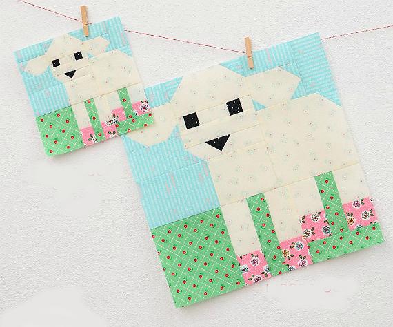 Little Lamb Quilt Block Pattern