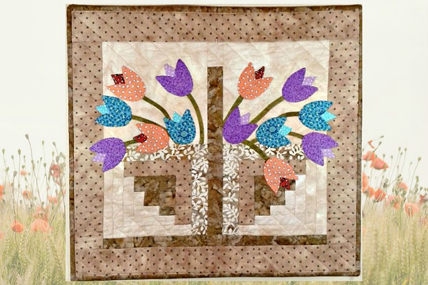 Tulip Basket Mini Quilt Pattern