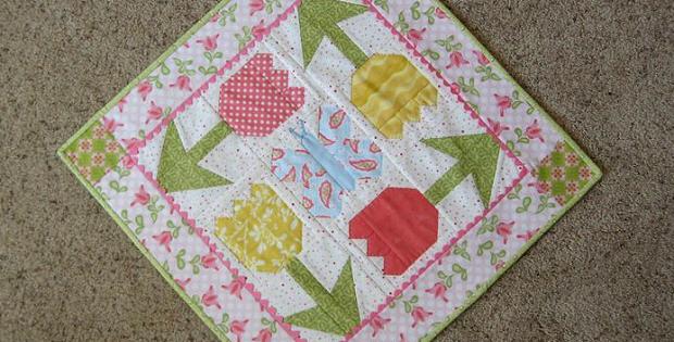 Spring Garden Table Top Quilt Pattern