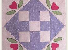Nine Patch Love Quilt Block Pattern