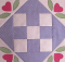 Nine Patch Love Quilt Block Pattern