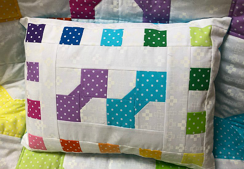 Rainbow Bows Baby Quilt and Pillow Pattern