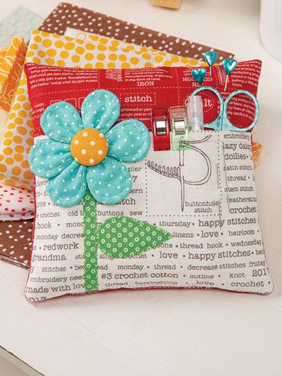 Flower Pocket Pincushion Pattern