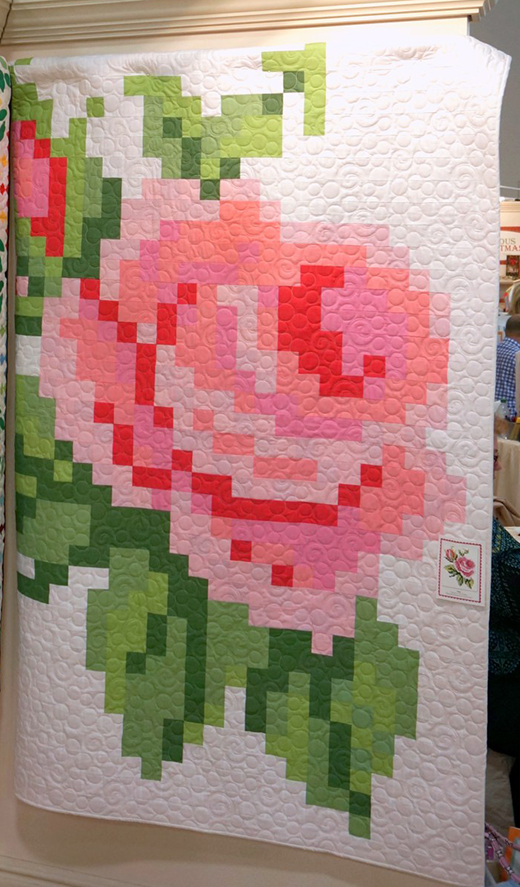 Pixelated Rose Quilt Pattern