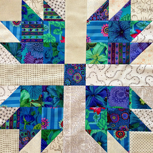 Scrappy Bear Paw Quilt Block