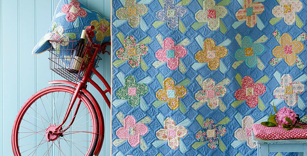 Apple Butter Scrapflower Quilt Pattern