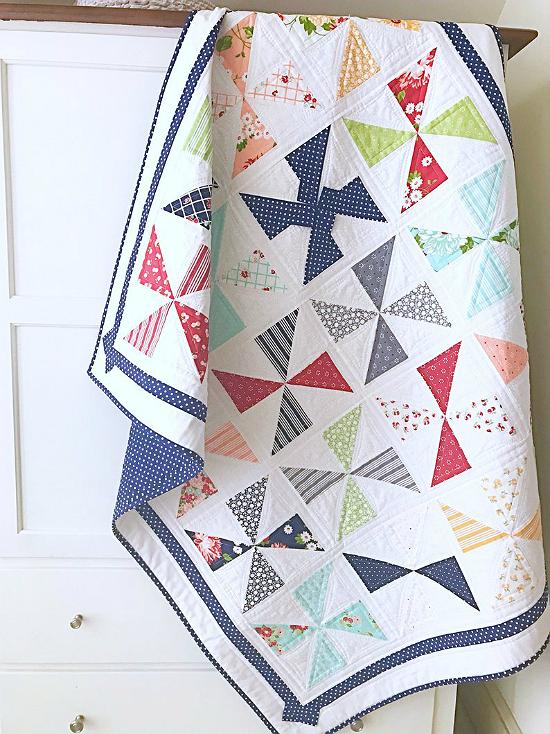Pinwheels and Polka Dots Quilt Pattern