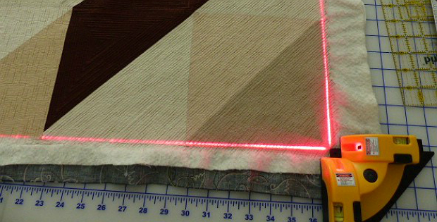 How to Block and Trim a Quilt Using a Laser Square