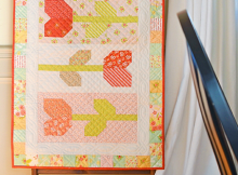 Tulip Farm Table Runner Pattern