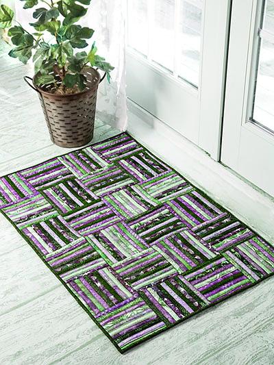 Strip Roll Rug Pattern