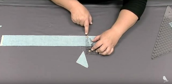 How to Make Half-Square Triangles from Strips
