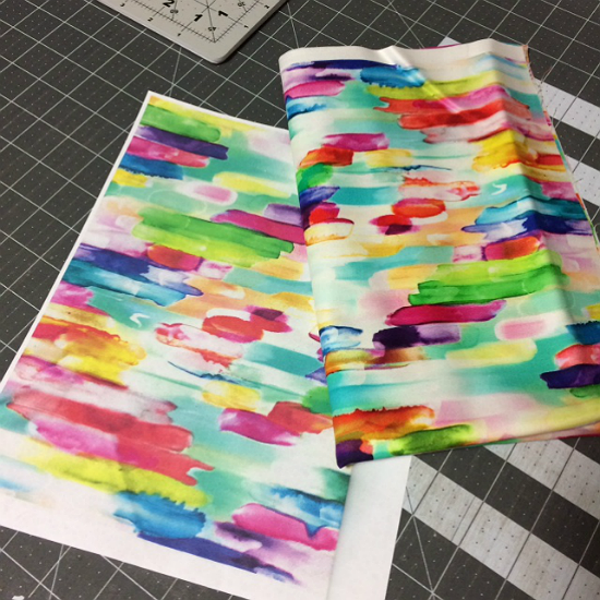 Audition Fabric for a Block Without Cutting It First