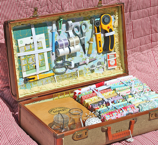Make a Sewing Case from an Old Suitcase