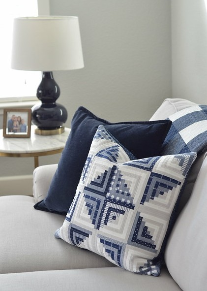 Pillow Made from Sweet Escape Quilt Pattern