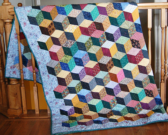 Tumbling Blocks Quilt