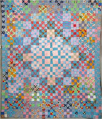 "African American ""Nine-Patch"" Quilt Top"