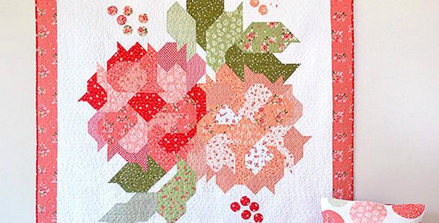 Blushing Blooms Quilt Pattern