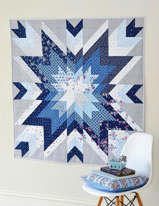 Indigo Star Quilt Pattern