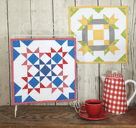 Barn Block Mini Quilt Series Pattern - July August