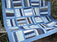Make a Charming Quilt from Old Shirts