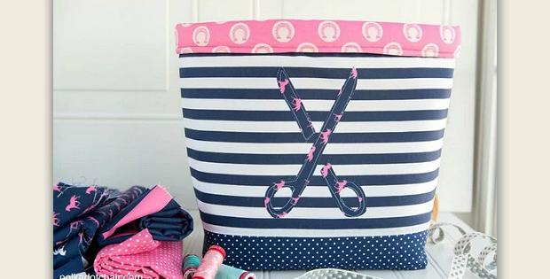 Never Full Fabric Bucket Tutorial