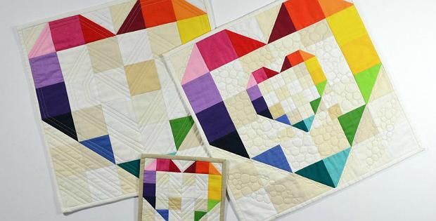 Rainbow Heart Trio Pattern