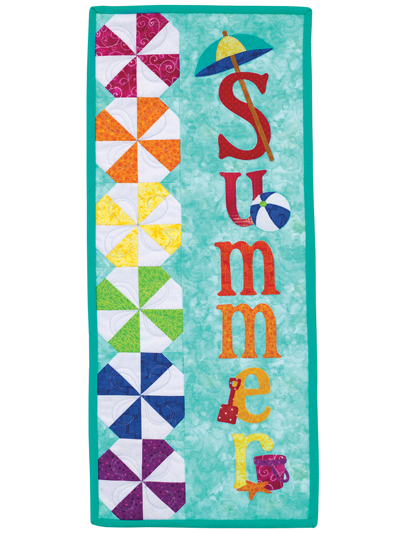 A Year in Words Wall Hangings - Summer - July Pattern