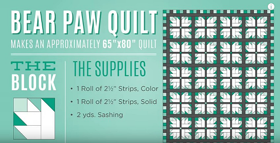 Bear Paw Quilt Tutorial