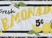 Fresh Lemonade Wall Hanging Pattern