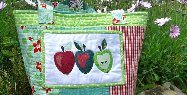 Apple Patchwork Tote Bag Pattern