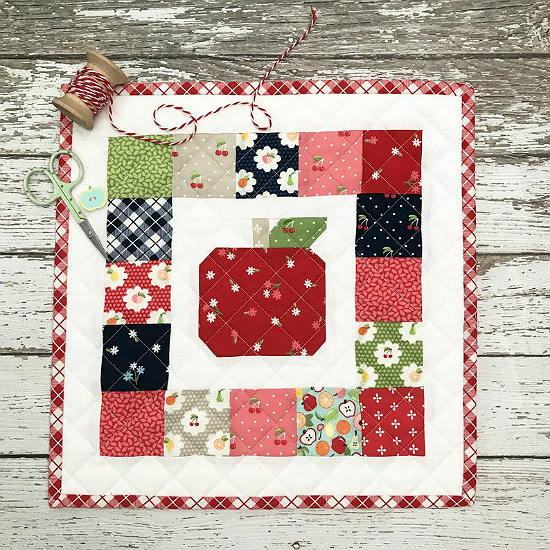 A is for Apple Mini Quilt Pattern