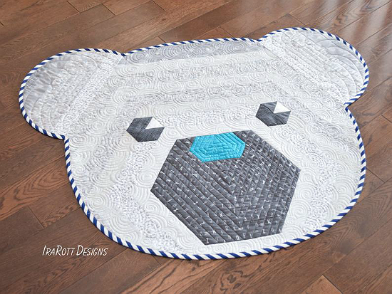 Cuddles The Hexi Bear Rug Pattern