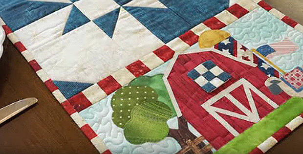 Easy Pieced Table Runner Series - July