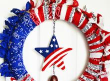 Patriotic Bandana Wreath Tutorial