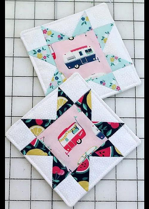Quilt Block Coasters Tutorial
