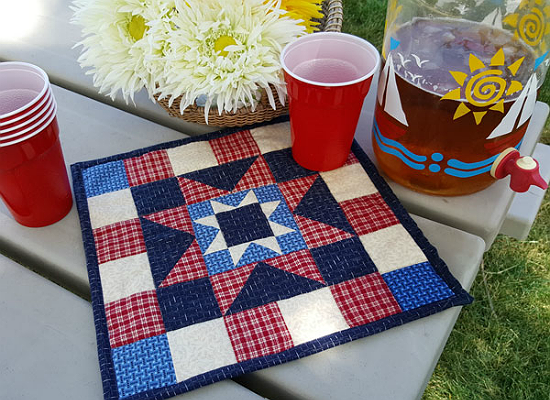 Stars-n-Strips Quilted Table Topper Tutorial