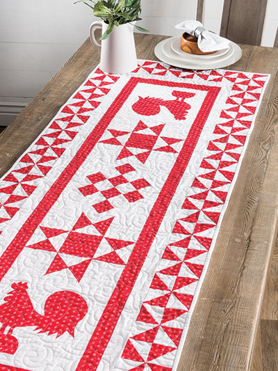 Red Rooster Table Runner Pattern