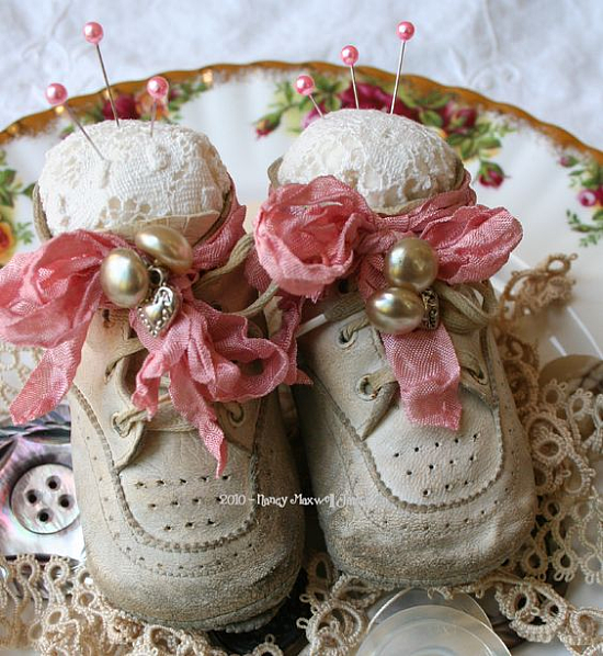 How to Make a Pincushion from an Old Baby Shoe