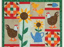 Chickens In The Garden Quilt Pattern