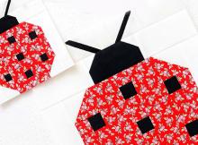 Ladybug Quilt Block Pattern