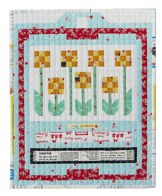 Spring Seed Catalogue Marigold Packet Mini Quilt Pattern
