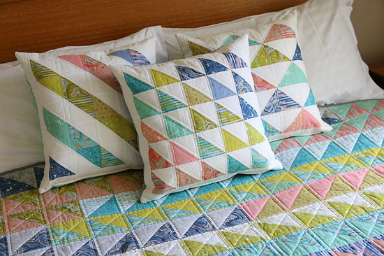 Triple Triangles Cushion Pattern
