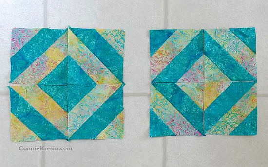 45 Degree Angle Quilt Block Tutorial