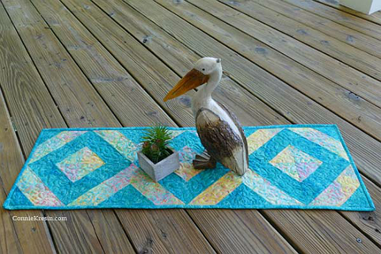 Easy 45 Degree Strip Tube Table Runner Tutorial
