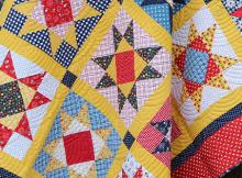 Gingham Girls Star Pattern