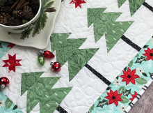 O Christmas Tree Runner Pattern