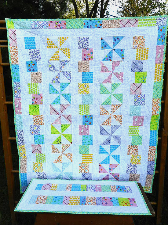 Tumbles & Twirls with Bonus Scrap Runner Pattern