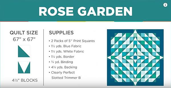 Rose Garden Quilt Tutorial