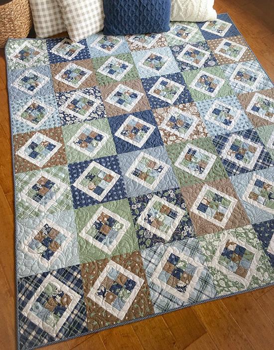 9 Patch Pivot Quilt Pattern