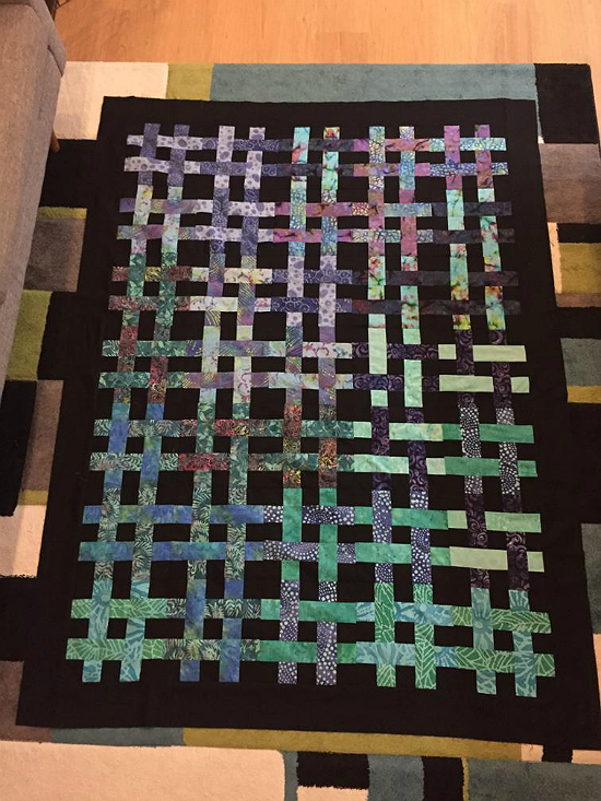 Weave it Be Ombre All Colors Quilt Pattern